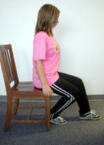 حرکت حالت نشسته و خم کردن و کشش زانو